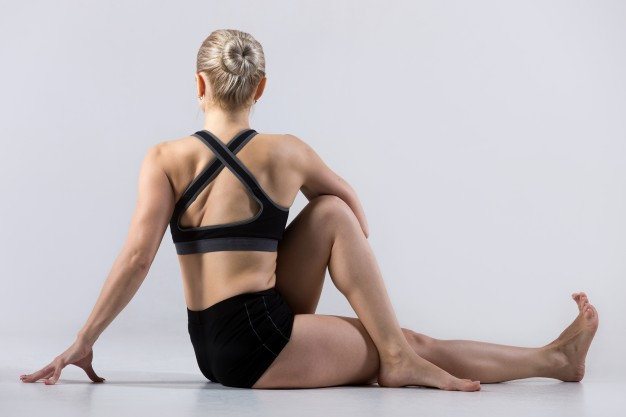 Seated Half-Spinal Twist Pose